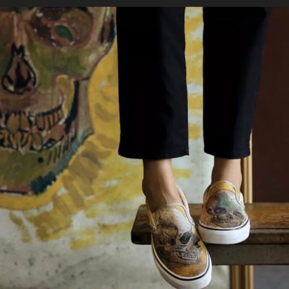 Vans Van Gogh Skull Women Size 5